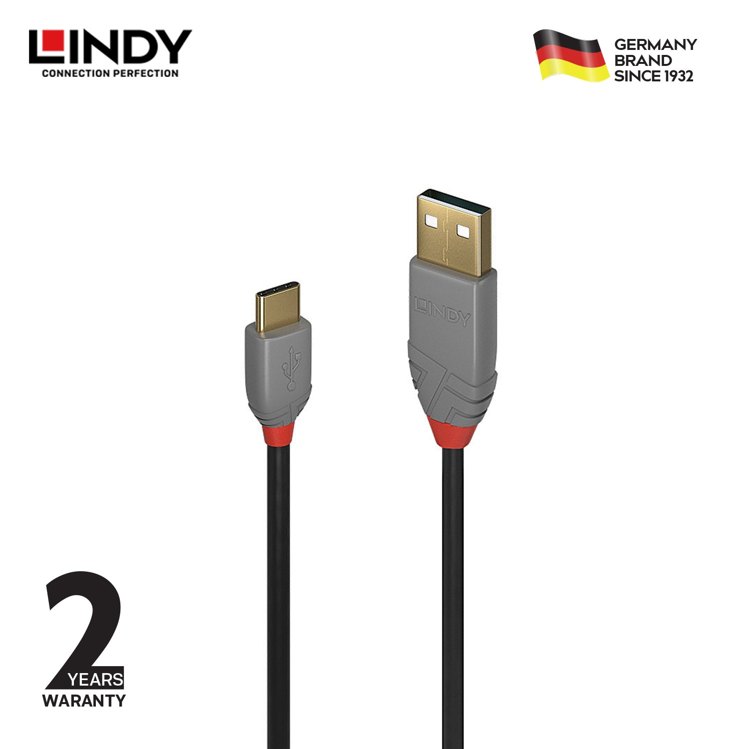 Anthra USB 2.0 Type C to A Cable, 2m
