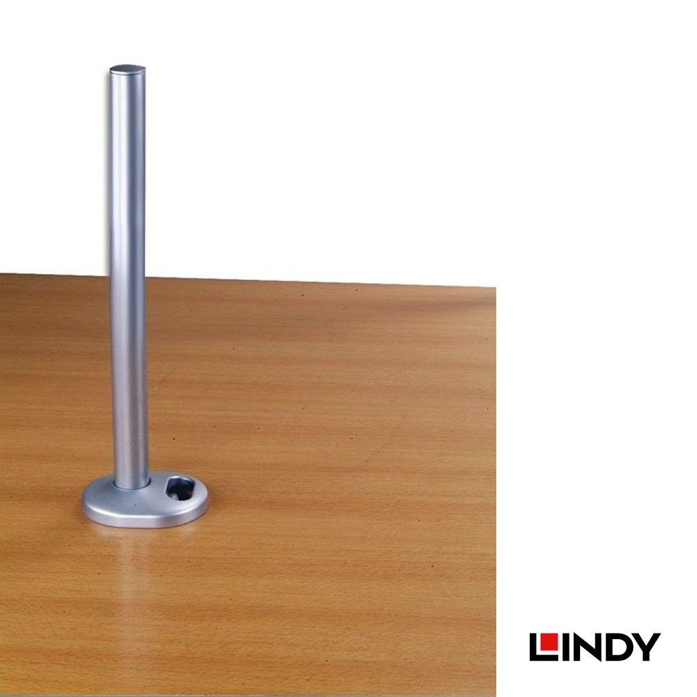 450mm Desk Grommet Clamp Pole, Silver