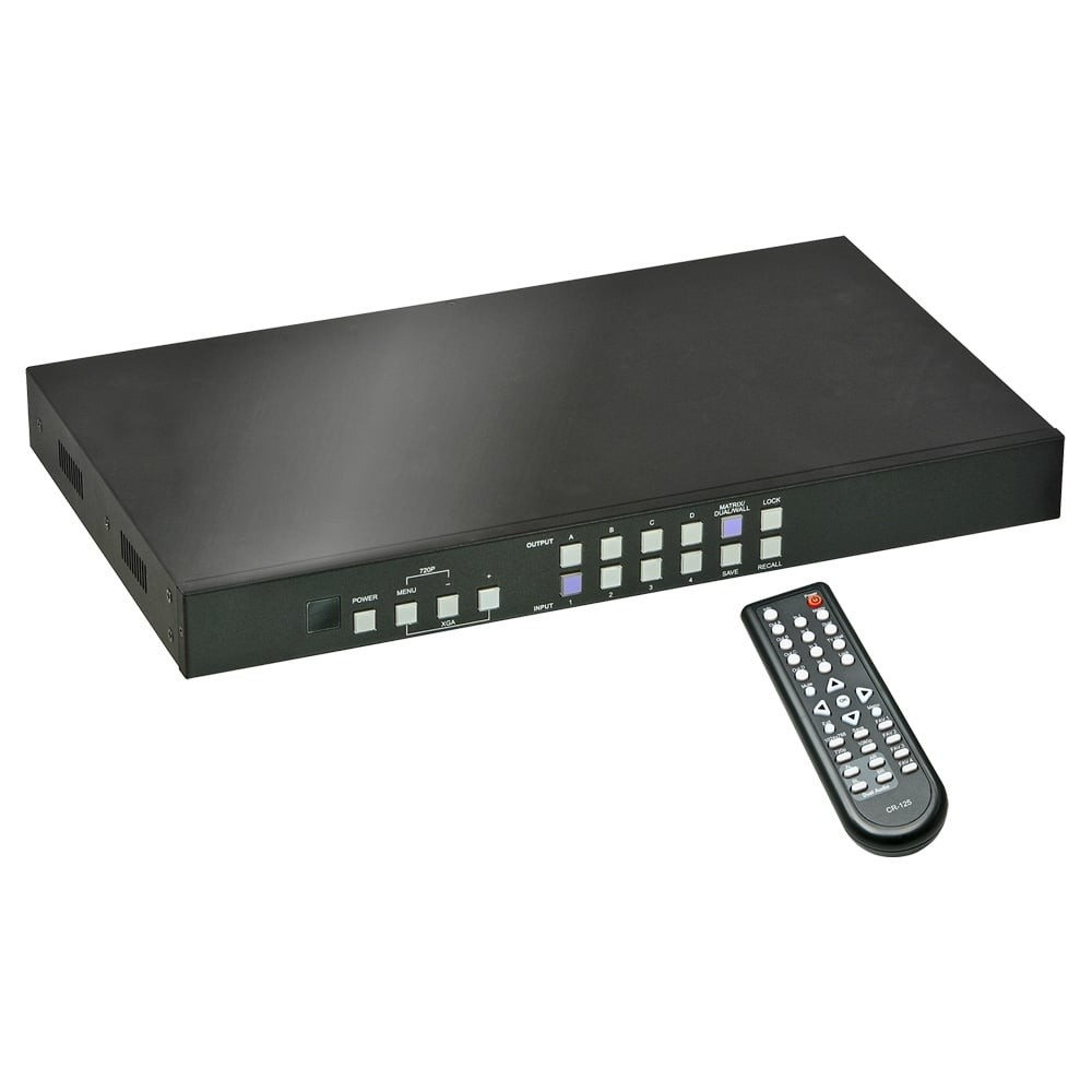 4x4 HDMI Matrix Switch with Video Wall Scaling