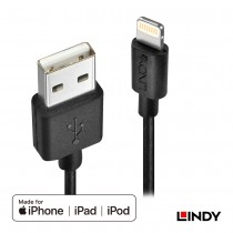 USB to Apple Lightning Cable, Black, 1m