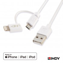 USB to Apple Lightning & Micro B Cable, 1m