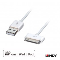 1m USB 2.0 to Apple Dock Cable, Made for iPod, iPhone & iPad