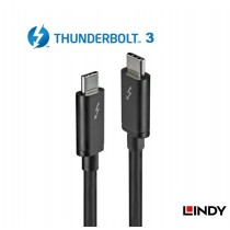 Thunderbolt 3 Cable, Black 1-2m