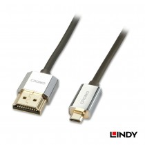 CROMO Slim High Speed HDMI to Micro HDMI Cable with Ethernet 0.5 - 2m