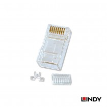 Unshielded RJ-45 Male Connector, 8 Pin CAT6, Pack of 10