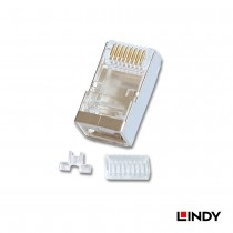Shielded RJ-45 Male Connector, 8 Pin CAT6, Pack of 10